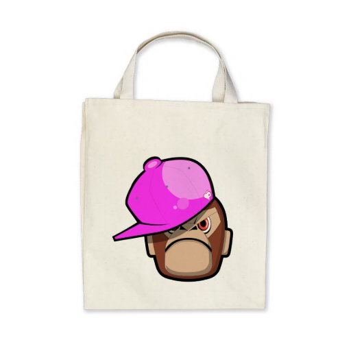 Cute and Cool monley in pink apple style bag