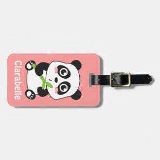 Cute and Cuddly Baby Panda Luggage Tag