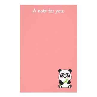 Cute and Cuddly Baby Panda Stationery