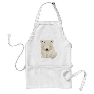 Cute and Cuddly Baby Polar Bear Standard Apron