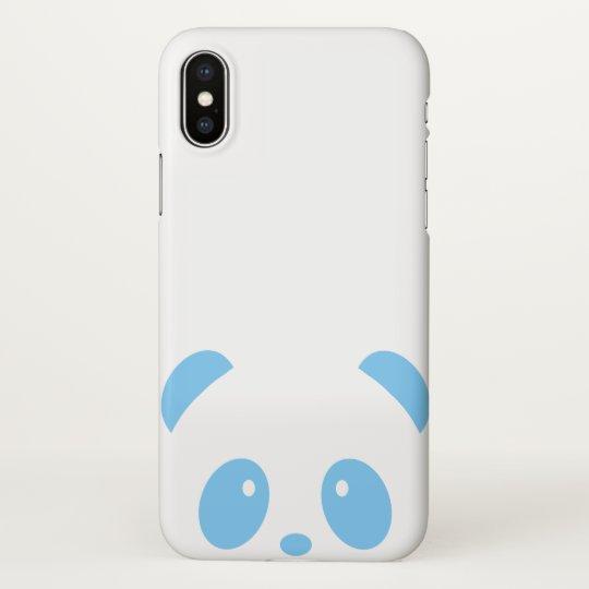 Cute and Cuddly Blue Panda iPhone X Phone