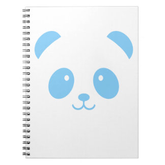 Cute and Cuddly Blue Panda Notebook
