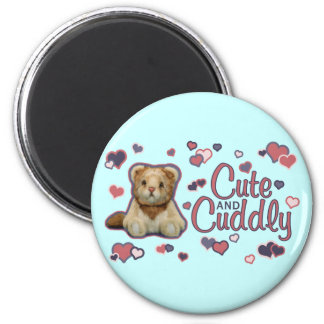 Cute and Cuddly Lion 6 Cm Round Magnet