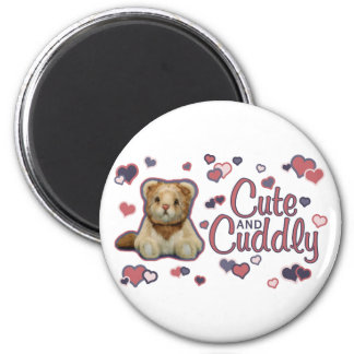 Cute and Cuddly Lion Magnet