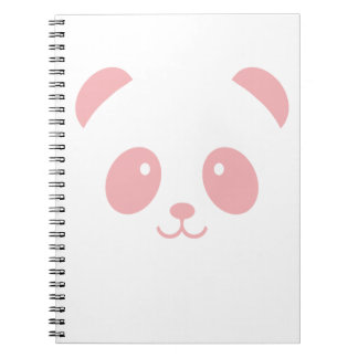 Cute and Cuddly Pink Panda Notebook