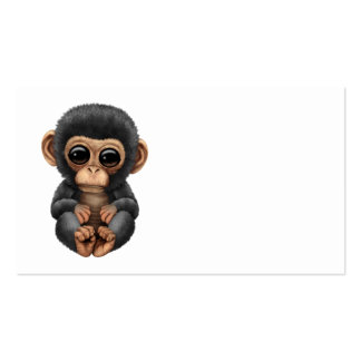 Cute and Curious Baby Chimpanzee Pack Of Standard Business Cards