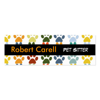 Cute and Fancy  Colorful Pet Print Paws Pack Of Skinny Business Cards
