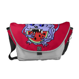 Cute and Fluffy Toothy Monster Messenger Bag
