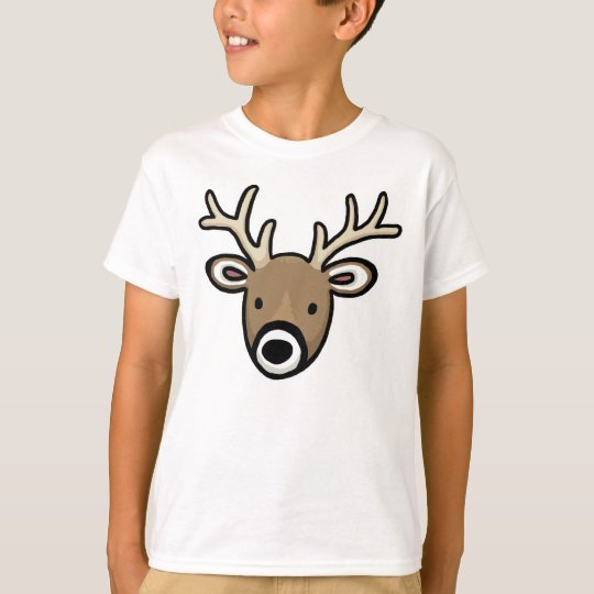Cute and Friendly Deer Face T-Shirt