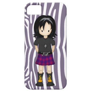 Cute and Funky Little Emo or Goth Girl Cartoon iPhone 5 Case