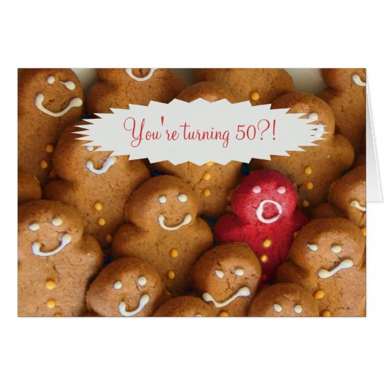 Cute and Funny 50th Birthday Card