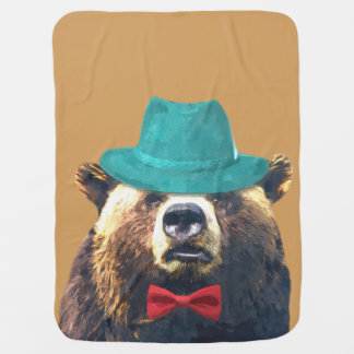 Cute and funny animal bear for baby/kids baby blanket