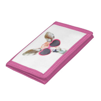 Cute and funny antelope animal girl kids children tri-fold wallets