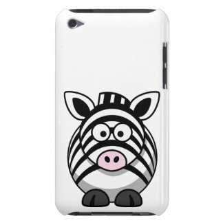 Cute and Funny  Black and White Cartoon Zebra iPod Touch Case