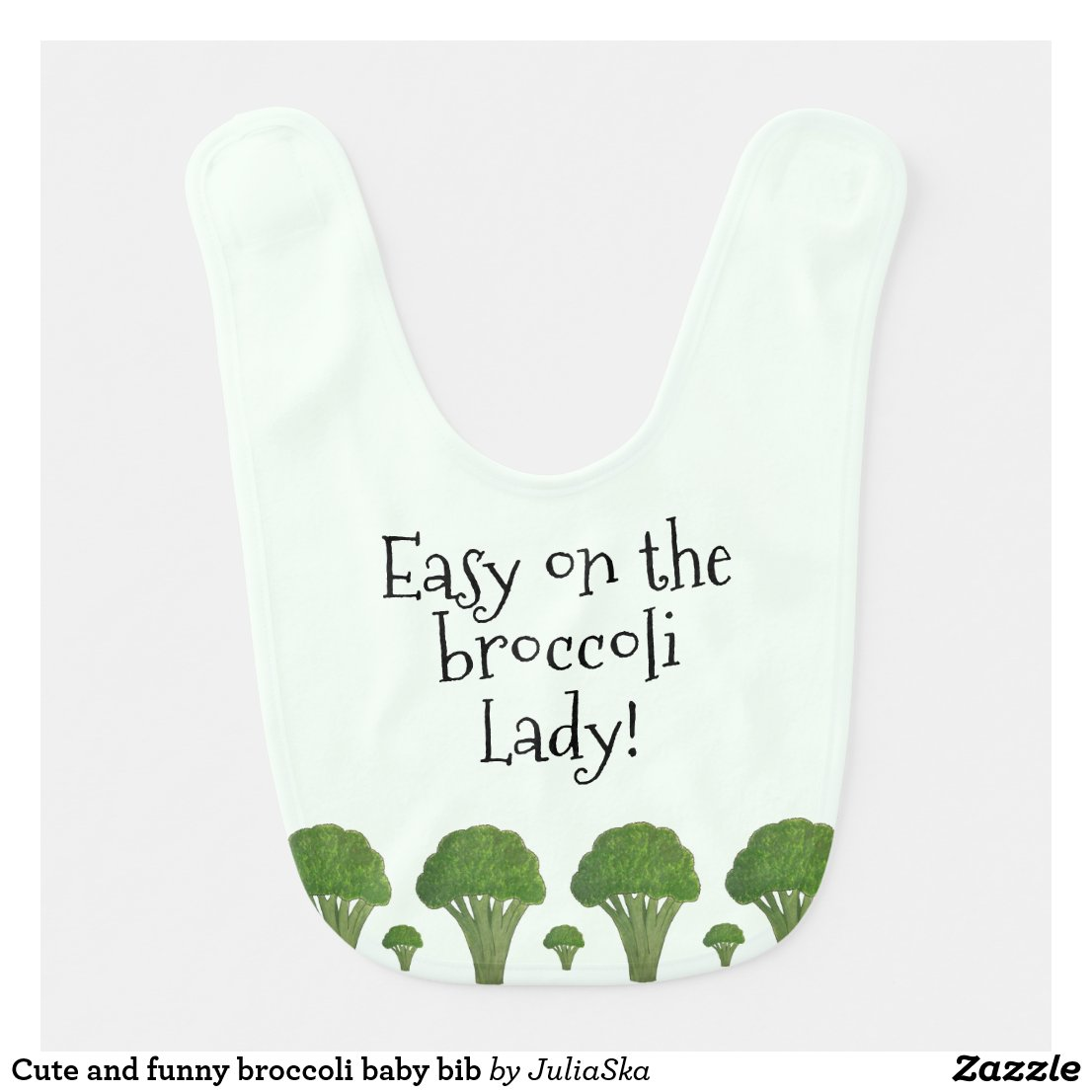 Cute and funny broccoli baby bib