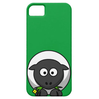 Cute and Funny Cartoon Sheep on Green Background Barely There iPhone 5 Case