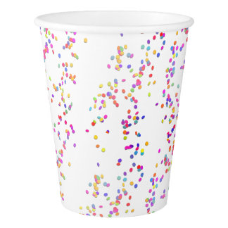 Cute and Funny Confetti Birthday Party Paper Cups