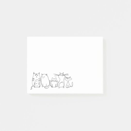 Cute and Funny Crazy Cat Lady Post-it Notes