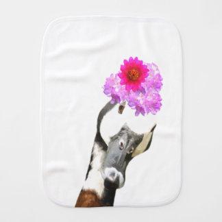 Cute and funny goose farm animal burp cloth
