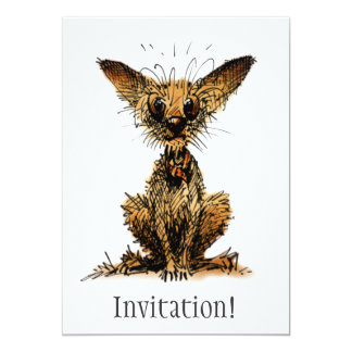 Cute and Funny Little Dog Card