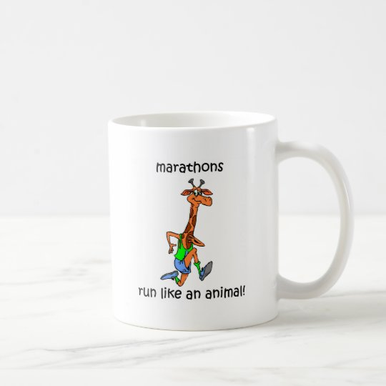 Cute and funny marathon coffee mug