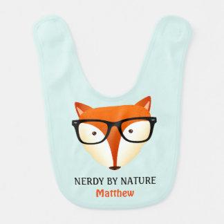 Cute and Funny Nerd Fox Bib
