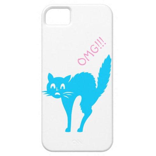 Cute And Funny OMG Cat iphone case iPhone 5 Case