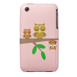 cute and funny owls iPhone 3 Case-Mate case