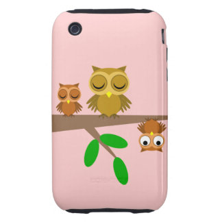 cute and funny owls tough iPhone 3 covers