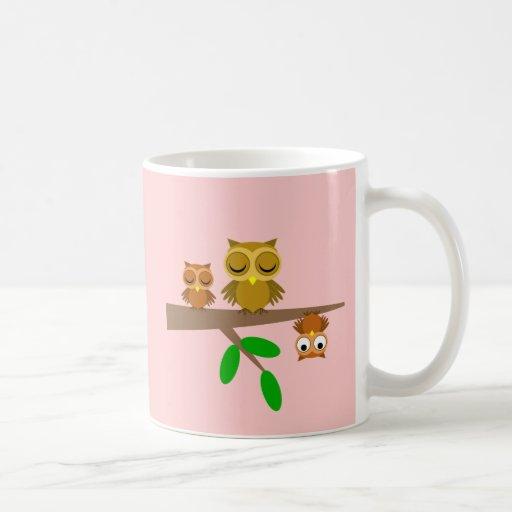 cute and funny owls mugs