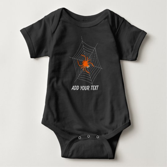Cute and Funny Spider and Web Halloween Baby