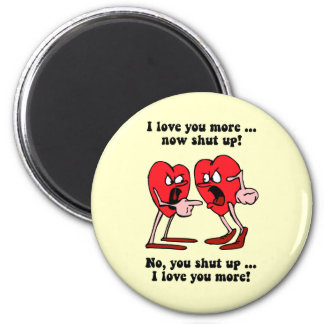 Cute and funny Valentine's Day 6 Cm Round Magnet