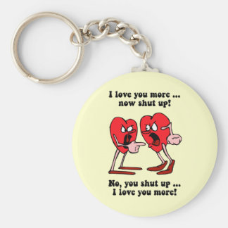 Cute and funny Valentine's Day Basic Round Button Key Ring