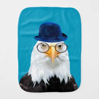 Cute and funny wild eagle animal burp cloth