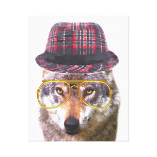 Cute and funny wolf for nursery canvas print