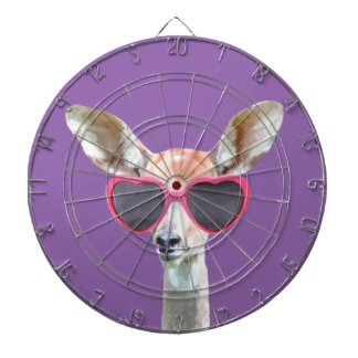Cute and funny woodland antelope animal kids dartboard