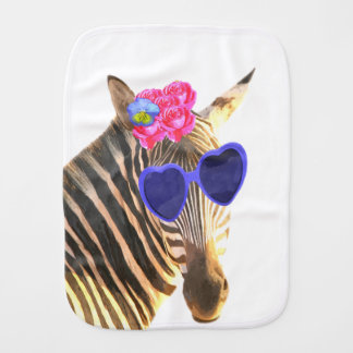 Cute and funny zebra jungle safari animal burp cloth