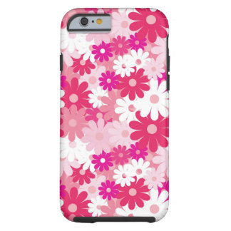Cute and Girly Gorgeous Pink Floral Pattern Tough iPhone 6 Case