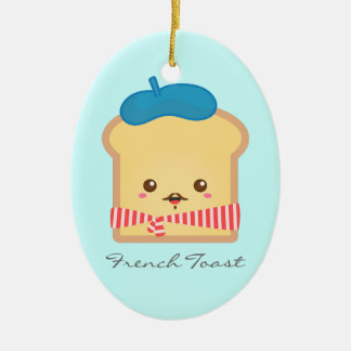 Cute and Happy French toast Christmas Ornament