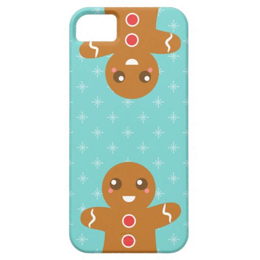 Cute and Happy Gingerbread Man for Christmas Cover For iPhone 5/5S