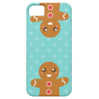 Cute and Happy Gingerbread Man for Christmas iPhone 5 Cases