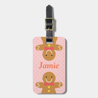 Cute and Happy Gingerbread Man for Christmas Bag Tag