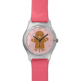 Cute and Happy Gingerbread Man for Christmas Wristwatch