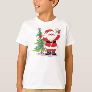 Cute and Happy Santa Claus Ringing a Bell Tee Shirt
