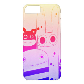 Cute and Happy Street Art Monsters iPhone 8/7 Case