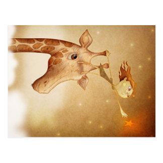 Cute and imaginative illustration postcard