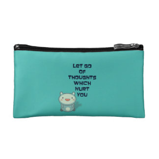 Cute and Inspirational Encouraging Quote Cosmetics Bags