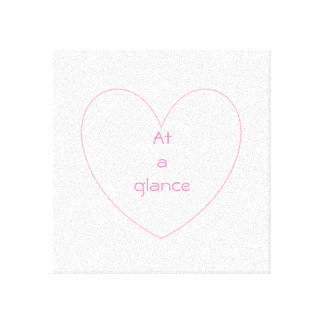 Cute and lovely heart letters canvas print