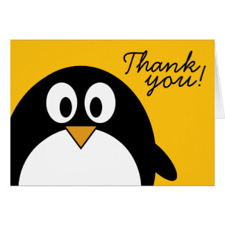 Cute and Modern Cartoon Penguin Card