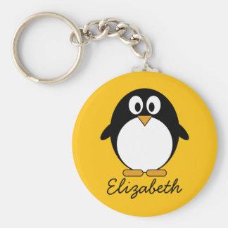 Cute and Modern Cartoon Penguin Key Ring